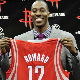 Dwight Howard: disclaimer: I hate Howard. mainly because of the fool he made of himself and the city of Los Angeles with that sour deal last year. All of that aside, he is a pretty good looking dude, even with that goofy grin and his big-mouth.